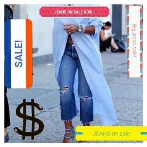JEANS on sale now, always in fashion..